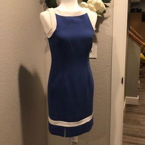 Amanda Smith Petite blue dress - like new!